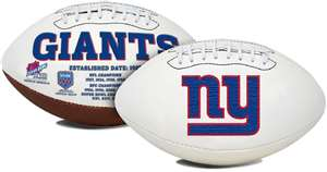 "NFL New York Giants ""Signature Series"" Football Full Size Football"