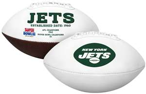 New York Jets  Signature Series Full Size Football Autograph