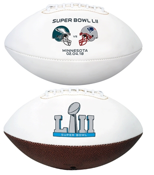 Super Bowl 52 LII Philadelphia Eagles vs New England Patriots Dueling Teams Rawlings Football