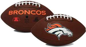 Denver Broncos  Game Time Full Size Football - Rawlings