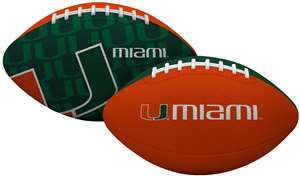 University of Miami Hurricanes Gridiron Junior Size Football