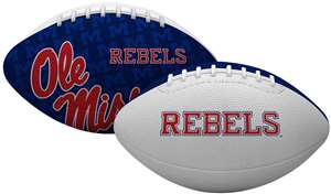 University of Mississippi Ole Miss Rebels Gridiron Junior Size Football