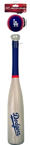 MLB Los Angeles Dodgers Grand Slam Softee Bat and Ball Set (Wood Grain)