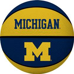 UNIVERSITY OF MICHIGAN Wolverines Rawlings Crossover Full Size Basketball