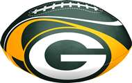 "Green Bay Packers ""Goal Line""  8"" Softee Football"