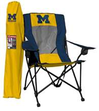 University of Michigan Wolverines High Back Folding Chair