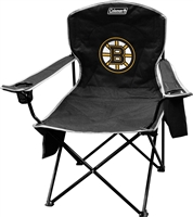 Boston Bruins Coleman Cooler Quad Chair Big Boy Folding NFL Chair