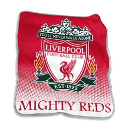 Liverpool Soccer Raschel Throw Fleece Blanket