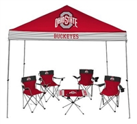 Ohio State University Buckeyes Tailgate Kit - Canopy - 4 Chairs - Table