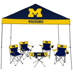 University of Michigan Wolverines Tailgate Kit - Canopy - 4 Chairs - Table
