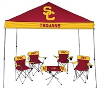University of Southern California USC Trojans Tailgate Kit - Canopy - 4 Chairs - Table