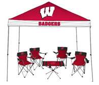 University of Wiscinsin Badgers Tailgate Kit - Canopy - 4 Chairs - Table