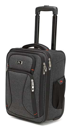High Sierra Endeavor Wheeled Underseat Carry-On MERCURY HEATHER/BLACK