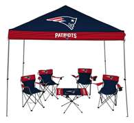 New England Patriots Tailgate Kit - Canopy - 4 Chairs - Table