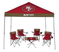 San Francisco 49ers Tailgate Kit - Canopy - 4 Chairs - Table