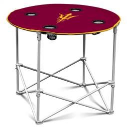 Arizona State University Sun Devils Round Folding Table with Carry Bag