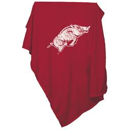 University of Arkansas Razorbacks Sweatshirt Blanket Screened Print