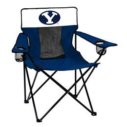 BYU Brigham Young University Cougars Elite Chair Folding Tailgate