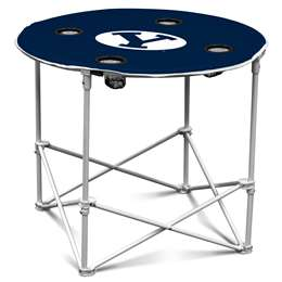 BYU Brigham Young University Cougars Round Table Folding Tailgate