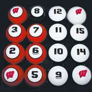 University of Wisconsin Badgers Billiard Ball Set - Pool Billiards