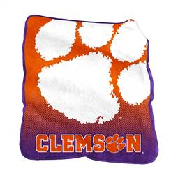 Clemson University Tigers  26A Raschel Throw Fleece Blanket