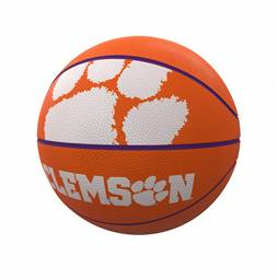 Clemson Mascot Official-Size Rubber Basketball