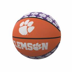 Clemson Repeating Logo Mini-Size Rubber Basketball