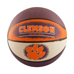 Clemson Mini-Size Rubber Basketball