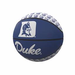 Duke Repeating Logo Mini-Size Rubber Basketball