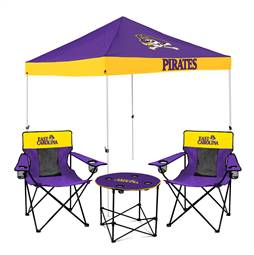 East Carolina University Pirates Tailgate Bundle - Set Includes 9X9 Canopy, 2 Chairs and 1 Side Table