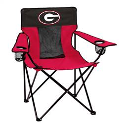 University of Georgia Bulldogs  Elite Chair - Tailgate Camping Folding