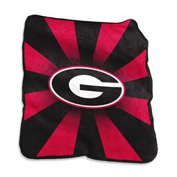 University of Georgia Bulldogs Raschel Throw Blanket