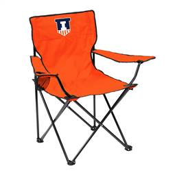 University of Illinois Fighting Illini Quad Folding Chair with Carry Bag