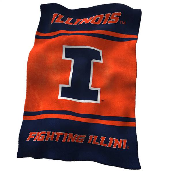 University of Illinois Fighting Illini Ultrasoft Throw Blanket