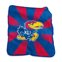 University of Kansas Jayhawks Raschel Throw Blanket