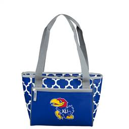 University of Kansas Jayhawks 16 Can Cooler Tote Bag