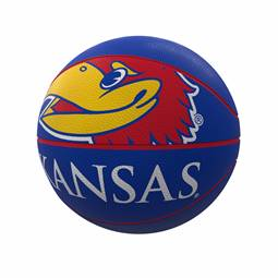 Kansas Mascot Official-Size Rubber Basketball