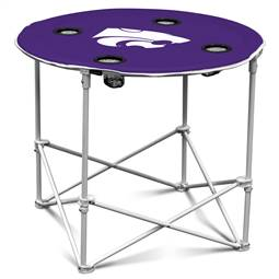 Kansas State University Wildcats Round Folding Table with Carry Bag