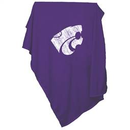 Kansas State University Wildcats Sweatshirt Blanket Screened Print