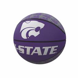 Kansas State University Repeating Logo Mini-Size Rubber Basketball