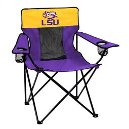LSU Louisiana State University Tigers Elite Folding Chair with Carry Bag