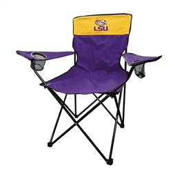 LSU Louisiana State University Tigers Legacy Folding Chair with Carry Bag