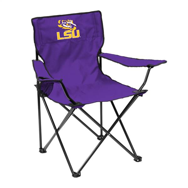 LSU Louisiana State University Tigers Quad Folding Chair with Carry Bag