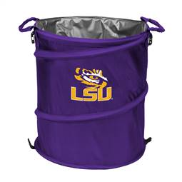 LSU Louisiana State University Tigers 3-IN-1 Cooler Trash Can Hamper