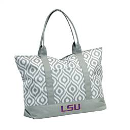 LSU Louisiana State University Tigers Ikat Tote Bag