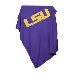 LSU Louisiana State University Sweatshirt Blanket