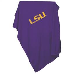LSU Louisiana State University Tigers Sweatshirt Blanket Screened Print
