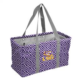 LSU Tigers Chair Adult Quad Folding Chair Double Diamond Picnic Caddy