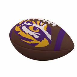 Louisiana State University LSU Tigers Team Stripe Official-Size Composite Football 93FC - FS Comp FB