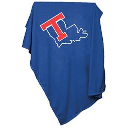 Louisiana Tech Sweatshirt Blanket 74 -Sweatshirt Blnkt